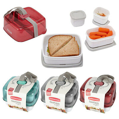 Rubbermaid Fasten Lunch Box Lunch Kit Sandwich Container Foo