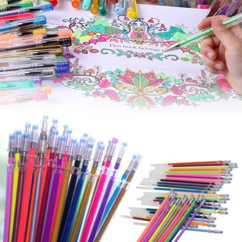 us 48 colors gel pens refill glitter