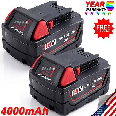 2Pcs For MILWAUKEE 48-11-1850 18V 18VOLT M18 Lithium-ion Battery Pack