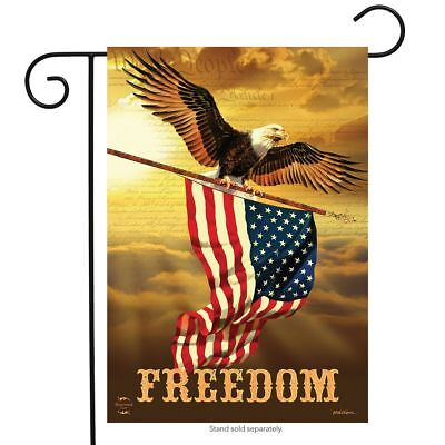 "Freedom Patriotic Garden Flag Bald Eagle USA 12.5"" x 18"" Briarwood Lane"