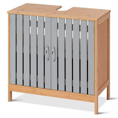 Bathroom Under Sink Vanity Cabinet Bamboo Freestanding Storage Shelf - Freestanding Bathroom Cabinets