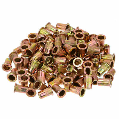 100pcs M6 Nutserts Rivet Nuts Flange Blind Rivnuts Zinc Plated Steel 9.0mm