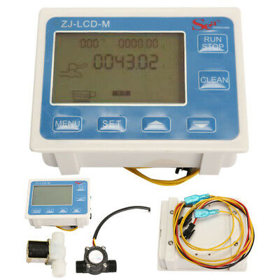 12 Water Flow Control Lcd Meter With Flow Sensor And Solenoid Val