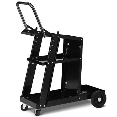 3-tier Welding Cart Plasma Cutter Welder Mig Tig Arc Rear Universal Wtank