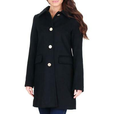 Tahari Sophia Women's Wool Blend A-Line Button Up Coat