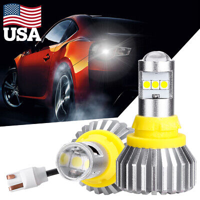 HLXG 4000LM 921 912 T15 W16W LED CSP Car Super White Backup Reverse Light Bulb