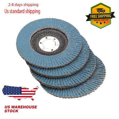 115mm Flap Sanding Disc 40 60 80 Grit Angle Grinder Wheel Zirconium Oxide