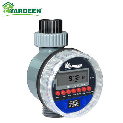 - LCD Ball Valve Automatic Electronic Water Timer Garden Irrigation Controller