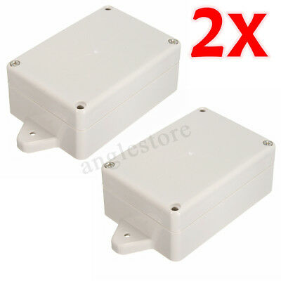 2pcs Plastic Electronic Project Cover Box Enclosure Case 85x58x35 Waterproof Us