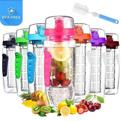 Trinkflasche mit Fruchteinsatz Infuser Wasserflasche Sportflasche Sport 1000ml Flasche