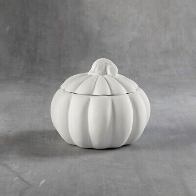 HALLOWEEN Pumpkin Box Small Ceramic Bisque Ready to Paint Pottery