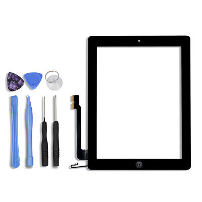 Black Touch Screen Glass Digitizer Replacement For iPad 4  A1460 A1459 A1458