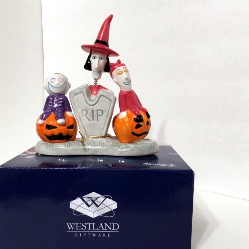 Disney Nightmare Before Christmas 25208 LOCK, SHOCK & BARREL Ceramic S&P Shakers