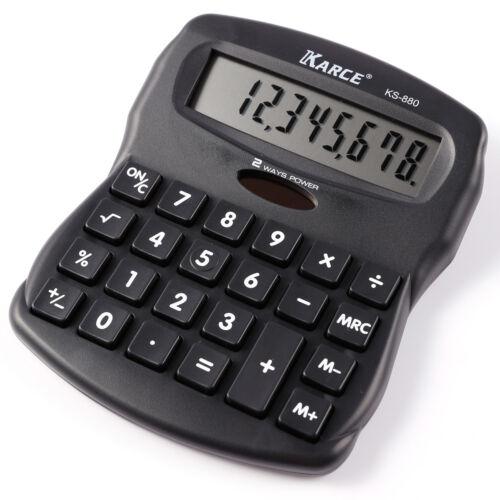 Taschenrechner Standard Tischrechner 8-stelliger Dual-Power Solar und Batterie