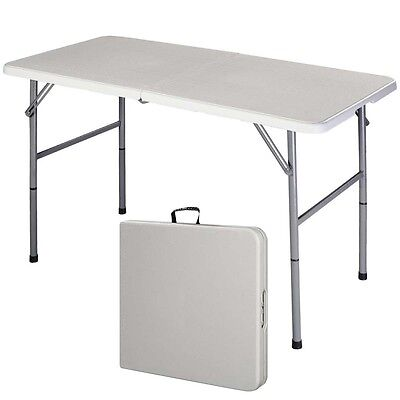4' Folding Table Portable Indoor Outdoor Picnic Party Dining Camp Tables Utility