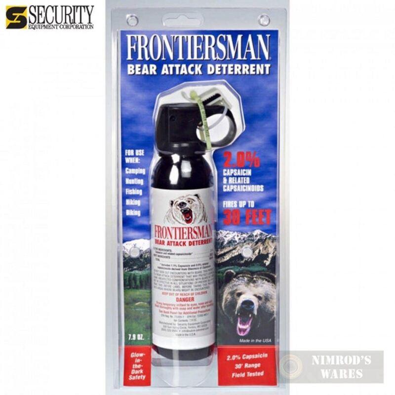 Frontiersman BEAR Pepper SPRAY 30ft Range 7.9 oz FBAD03 *FAST SHIP*!!