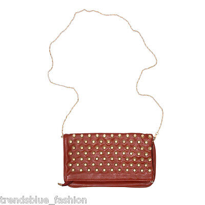 Premium Studded Foldover Crossbody Flap Bag ()