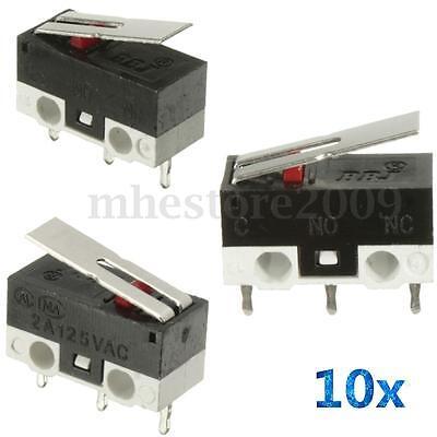 10pcs 2a 125v Micro Limit Switch Lever Roller Arm Actuator Spdt Snap Action Lot