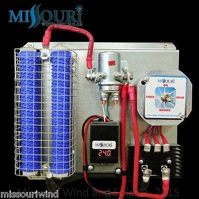 24 volt digital charge controller / brake switch divert load 4 wind & solar