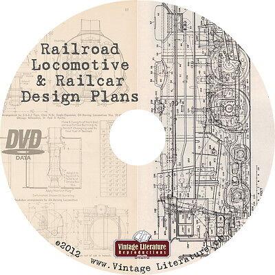 Railroad Locomotive & Railcar Plans {Model RR Scratchbuilder Blueprints} on DVD