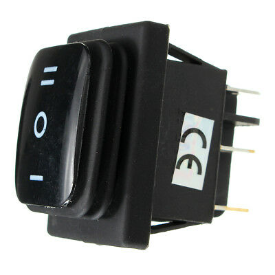 12v Black Waterproof Black 6pin Dpdt Locking On-off-on Rectangle Rocker Switch