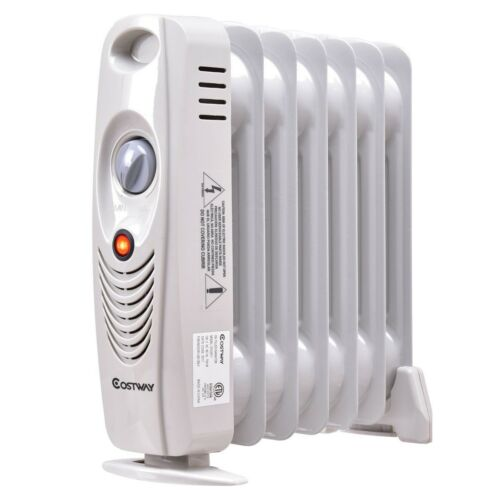 700W Mini Electric Oil Filled Radiator Thermostat Radiant He
