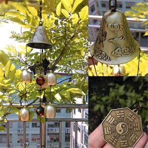 6 Bells Copper Clock Yard Garden Outdoor Living Wind Chimes Home Decoration