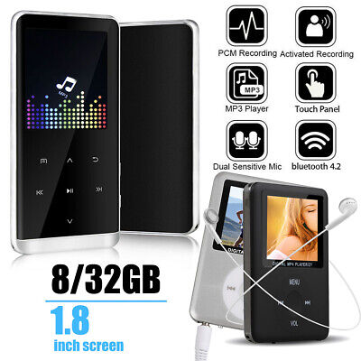 8/32GB Bluetooth MP3 Player MP4 Media FM Radio Recorder HIFI