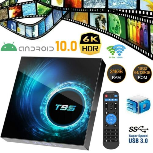 T95 4K TV BOX Android 10 CORE 4GB+128GB  2.4/5G WIFI HDMI 3D