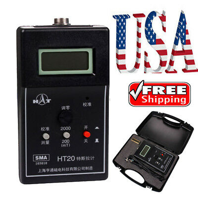 Usa Acdc Lcd Display Magnetic Field Tesla Gauss Meter Flux Meter 2000mt Ht20