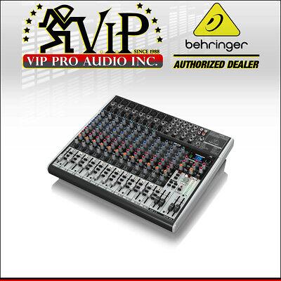 Behringer X2222USB 22-Input 2/2-Bus Mixer w/ XENYX Mic C, British EQs,  FX & USB