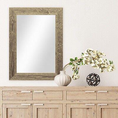 Strand Weiße Spiegel (Spiegel Strandhaus-Stil Holz Rustikal Eiche Blau Weiss Grau Foto Rahmen breit)