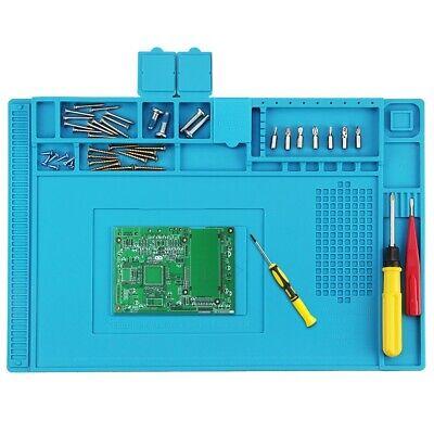 18x12 Desktop Anti Static Heat Insulation Work Mat Phone Pc Tablet Repair