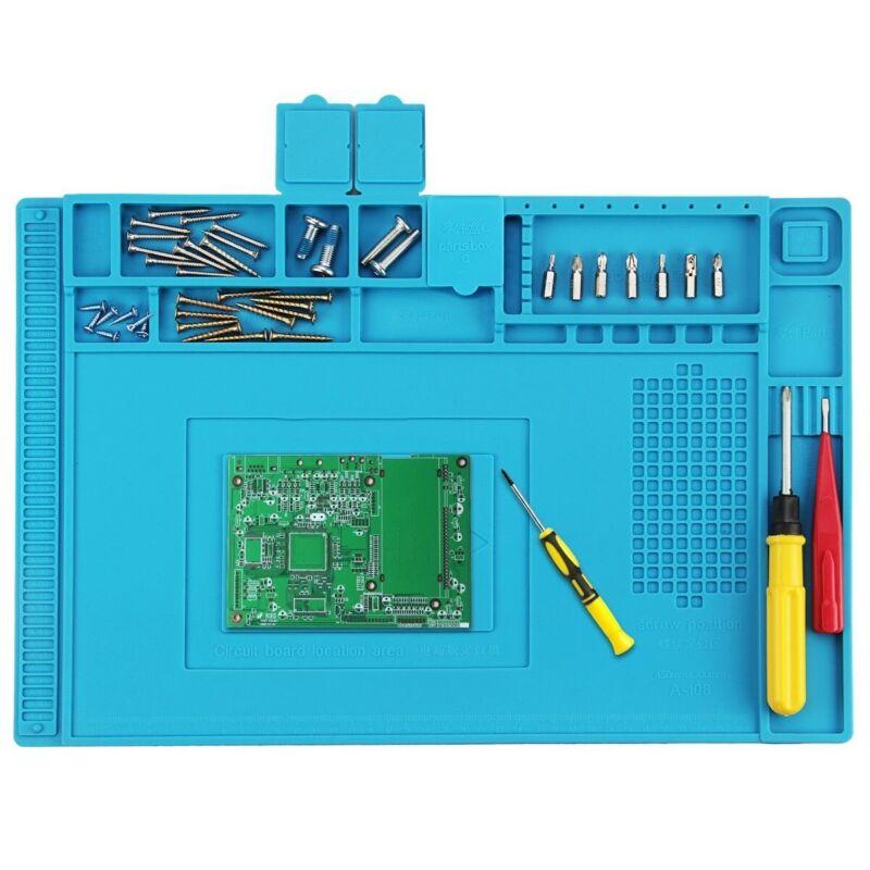 """18""""x12"""" Desktop Anti Static Heat Insulation Work Mat Phone PC Tablet Repair"""