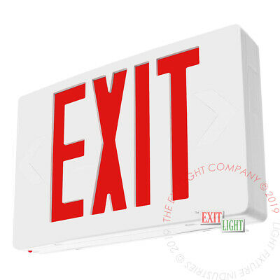 Red Led Emergency Exit Light Sign - Standard Self Testing Diagnostic - Ledrbbst