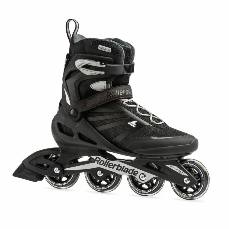 Rollerblade Zetrablade Adult Mens Fitness Inline Skates, Size 9 Black (Open Box)