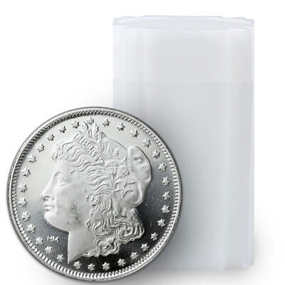 Roll of 20 - Morgan Dollar Design 1 Troy Oz .999 Fine Silver Rounds SKU31049