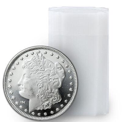 Roll of 20 - Morgan Dollar Design 1 Troy Oz .999 Fine Silver Rounds SKU31049