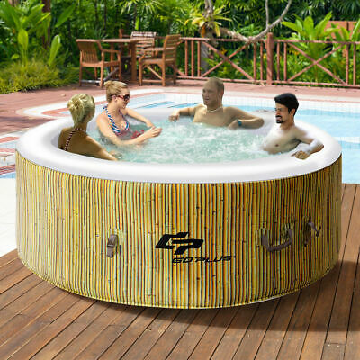 4 Person Inflatable Hot Tub Outdoor Jets Portable Heated Bubble Massage Spa New Bubble Spa Hot Tub