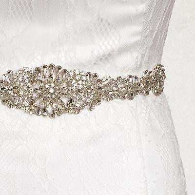 Bridal Sash/Bridal Belt/ Wedding Dress Sash Belt Vintage Rhinestone Crystal Us](Sash Belt)