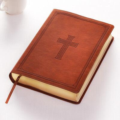 KJV HOLY BIBLE King James Version Giant Print Faux Leather Edition Tan NEW