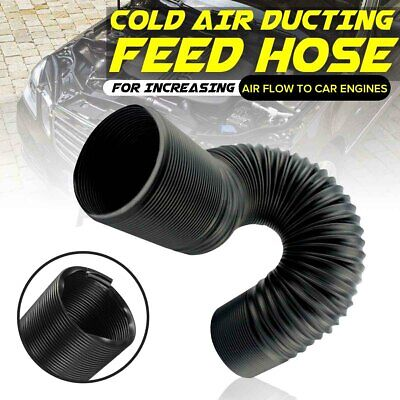 1M 80MM FLEXIBLE COLD AIR DUCTING FEED HOSE PIPE FOR CAR AIR FILTER INTAKE
