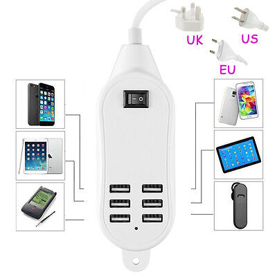 Us Multi 6 Usb Port Charger Rapid Tower Charging Station Charging Accessorie 6A