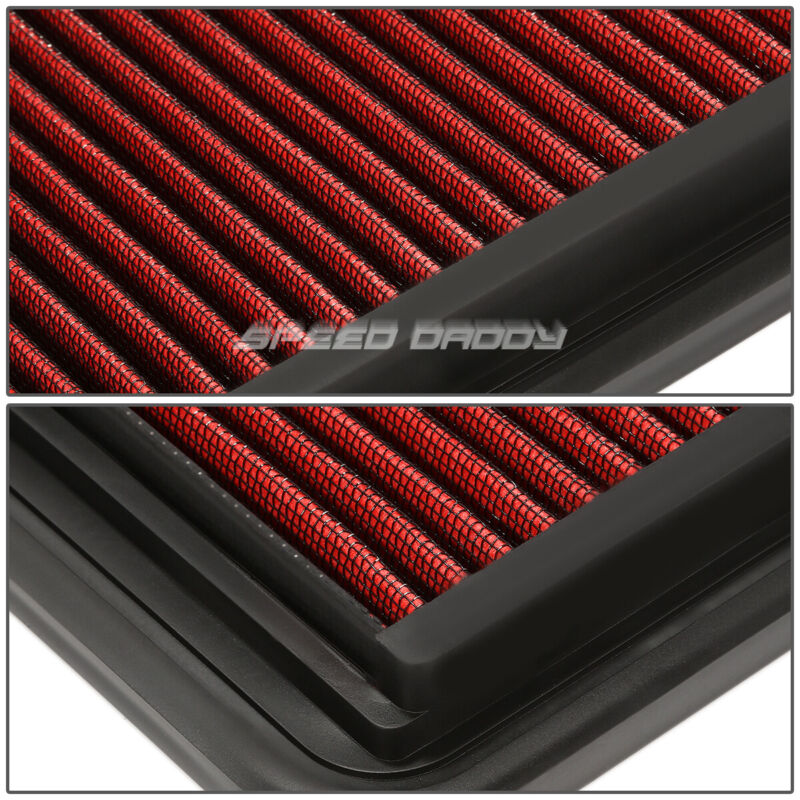 FOR 08-10 MALIBU/G6/DTS RED REUSABLE&WASHABLE HIGH FLOW DROP IN AIR FILTER