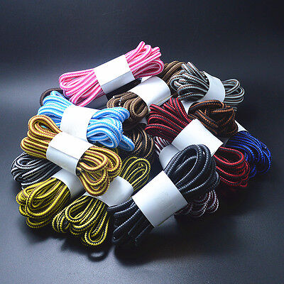 4mm Stripe Round Rope Shoelace Sneaker Shoe Laces Hiking Walking Boot- 4 LENGTHS