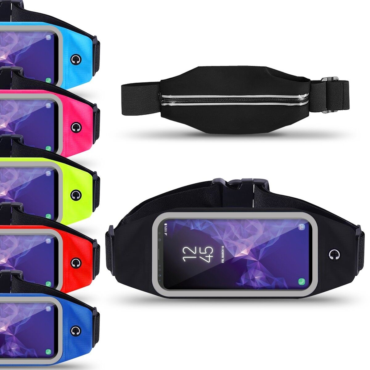 Lauftasche Gürteltasche Samsung Galaxy S9 Plus Bauchtasche Handy Hülle Jogging