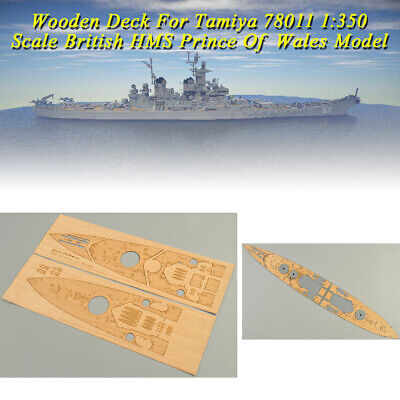 Wooden Deck for Tamiya 78011 1/350 Scale British Battleship Prince of Wales