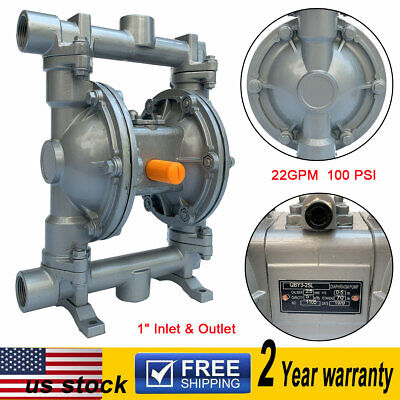 Air-operated Double Diaphragm Pump 22gpm 1 Inlet Outlet Low Viscosity Fluids