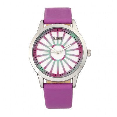 Crayo Eléctrico Mujer Fucsia Reloj Correa Cuarzo CR5001
