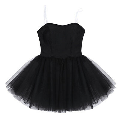 Ballerina Costumes For Adults (Women Black Strapless Ballet Dance Tutu Dress Ballerina Costumes For Adult)